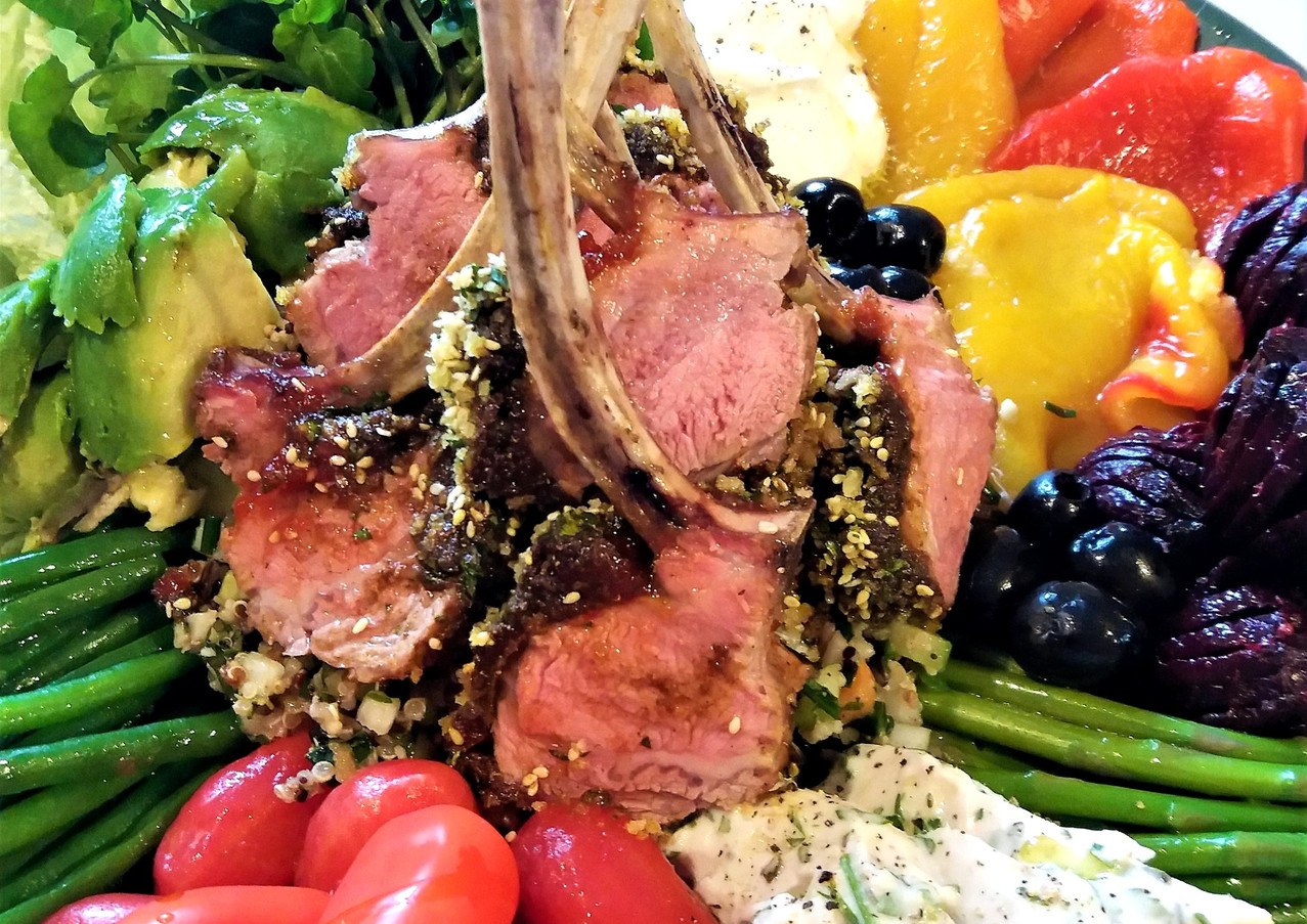 Spiced Rack of Lamb with Pine Kernals