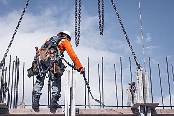 Gezekerde bouwvakker