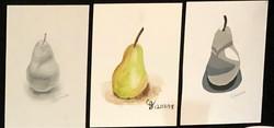 pencil/watercolor/collage