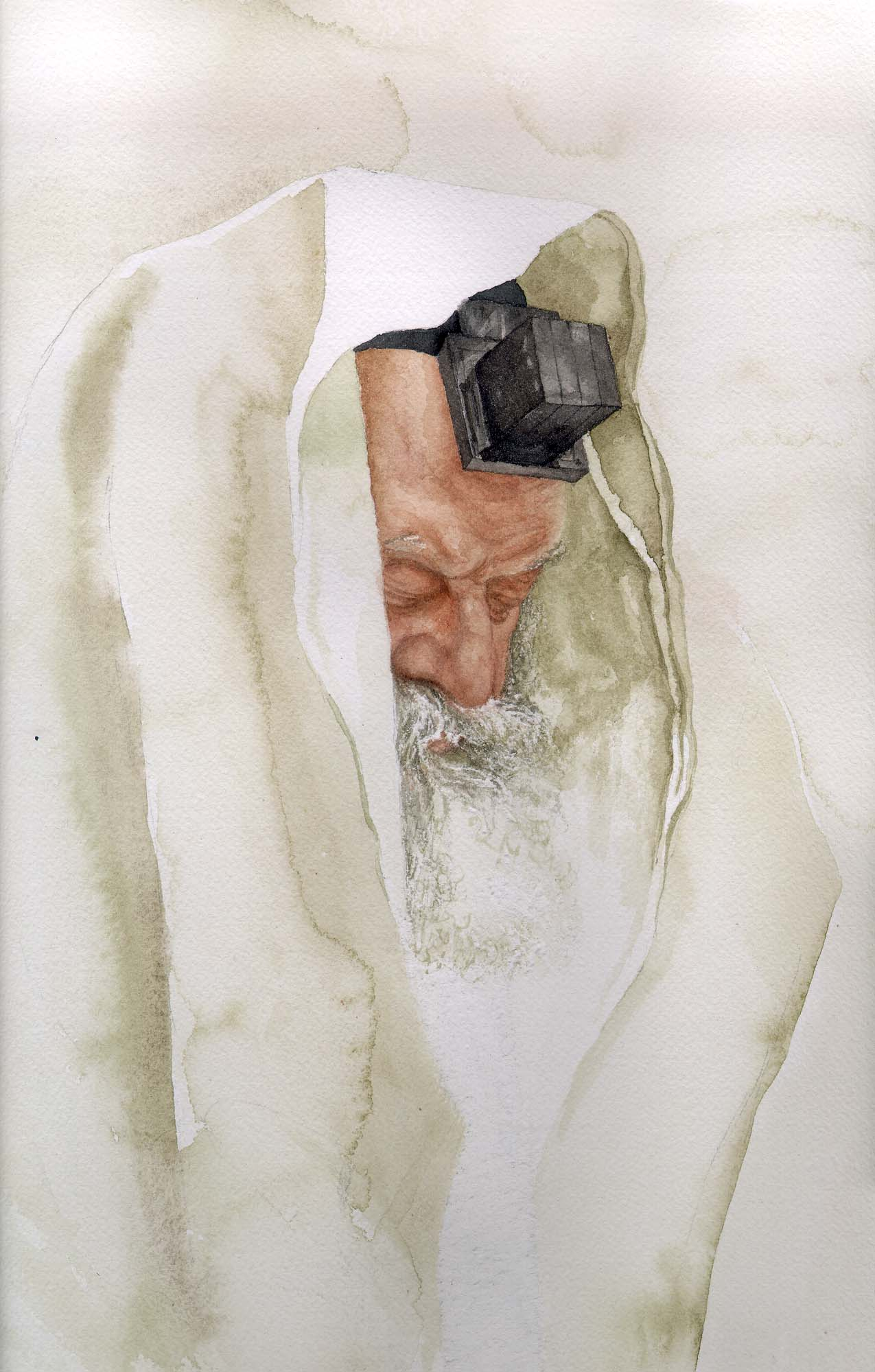 Rebbe in Watercolor