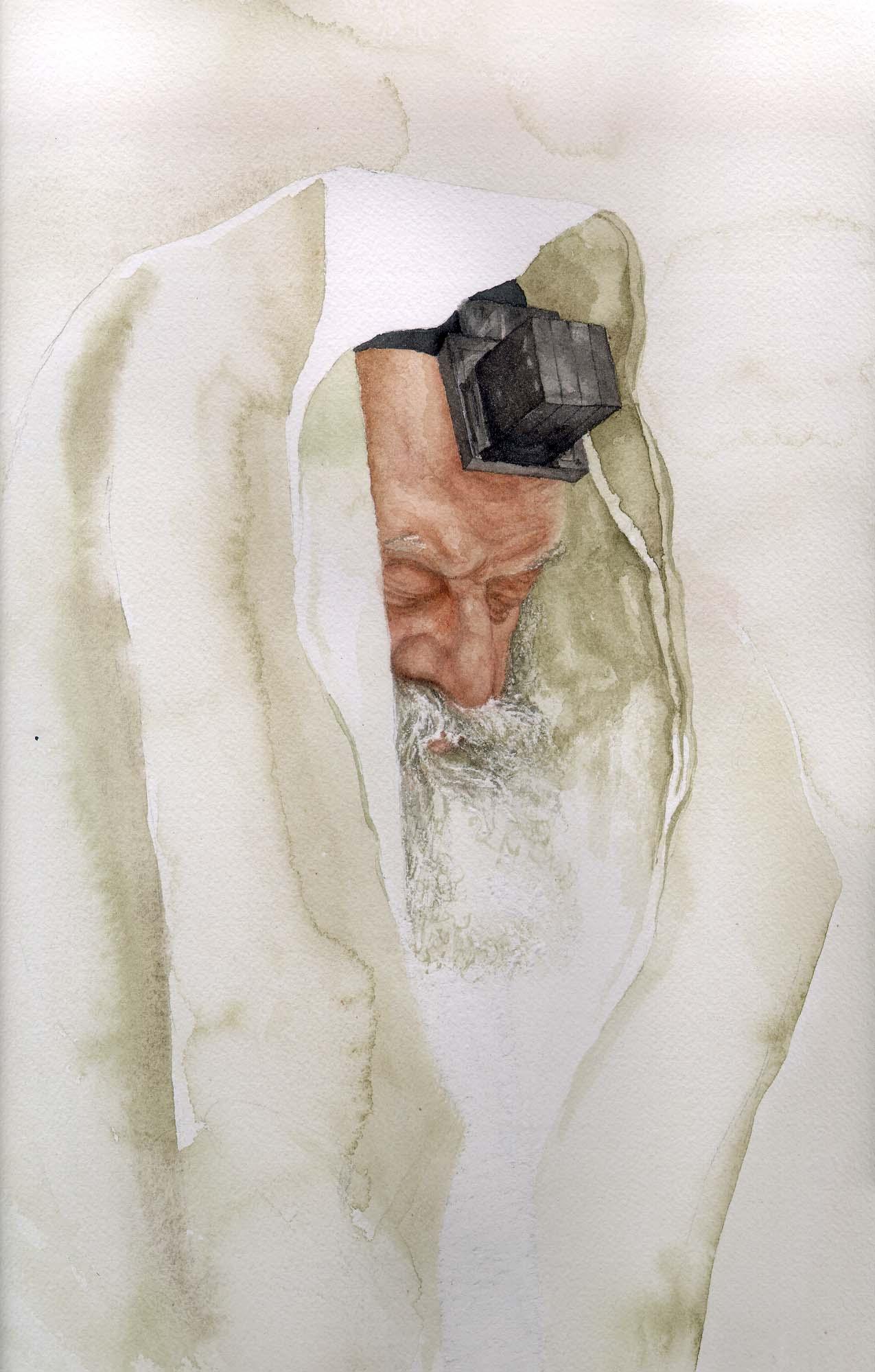 Rebbe in Watercolor