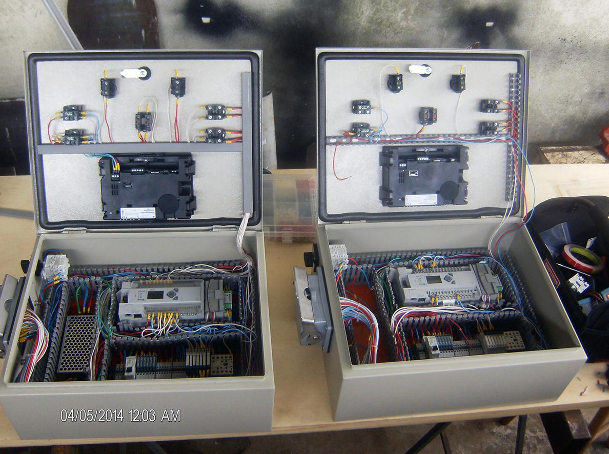 Painel elétrico compactado