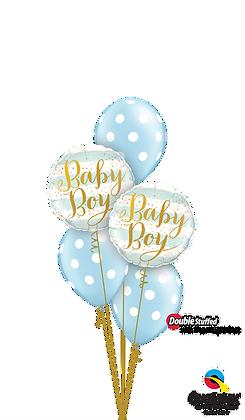 "Ballons CLASSIC ""Baby Stripes"" Bleu"