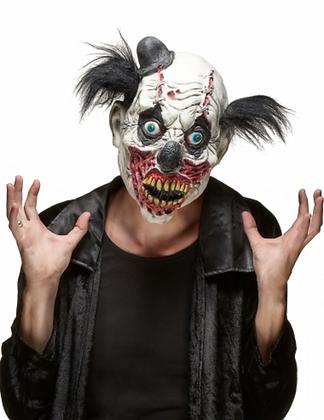 Masque latex clown sanglant adulte