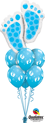 "Ballons LUXURY ""Baby Feet"" Bleu"