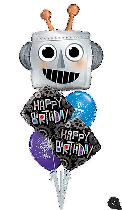 """Ballons MASTER """"Robot Bday"""""""