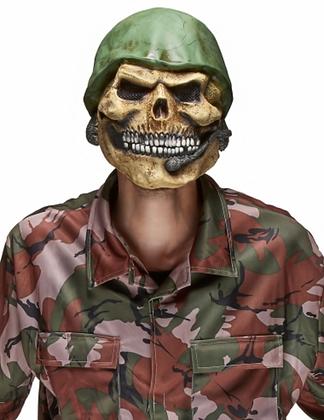Masque latex tête de cadavre de soldat adulte
