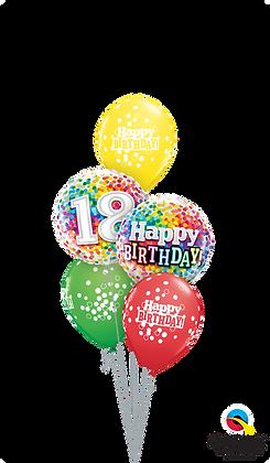 Ballons CLASSIC Rainbow Confettis Birthday