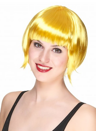 Perruque courte jaunes femme