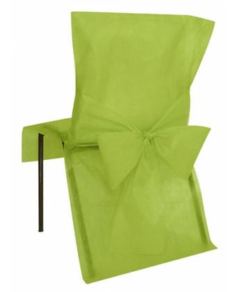 10 Housses de chaise vert 50 x 95 cm