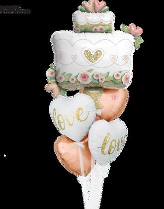 """Ballons MASTER """"Love Glittering Wedding Cake"""""""