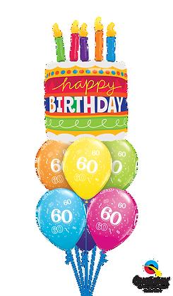 Ballons LUXURY Cake & Candles Birthday