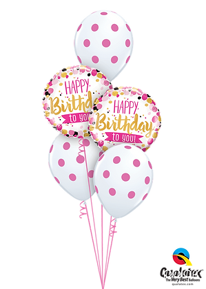 Ballons CLASSIC Happy Bday To You Pink & Gold