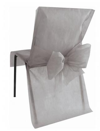 10 Housses de chaise gris 50 x 95 cm