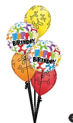 Ballons CLASSIC Birthday Balloon Dogs