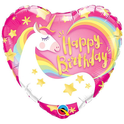 Ballon Aluminium 18″ Happy Birthday Magical Unicorn – Qualatex