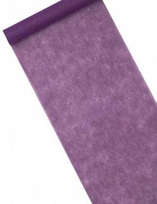 Chemin de table intissé violet 10 m