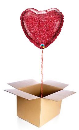 Ballon Coeur Rouge Pailleté
