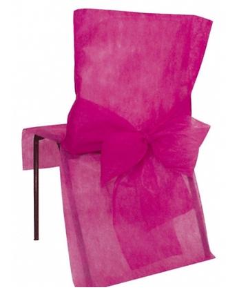 10 Housses de chaise fuchsia 50 x 95 cm