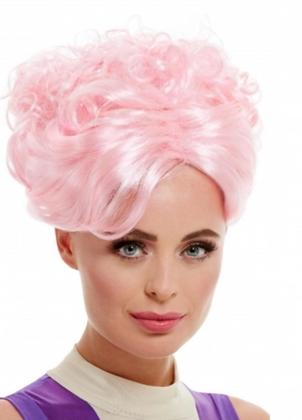 Perruque pin-up vintage rose femme