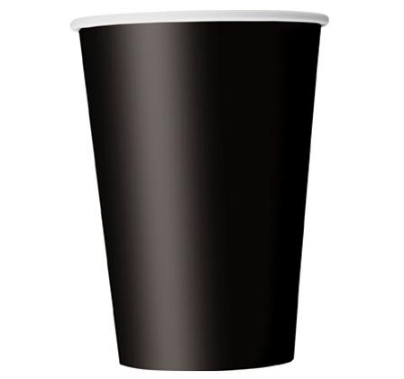 10 Gobelets en carton noir 355 ml