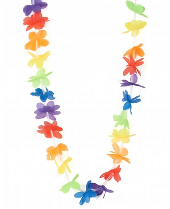 Collier Hawaï de bienvenue multicolore