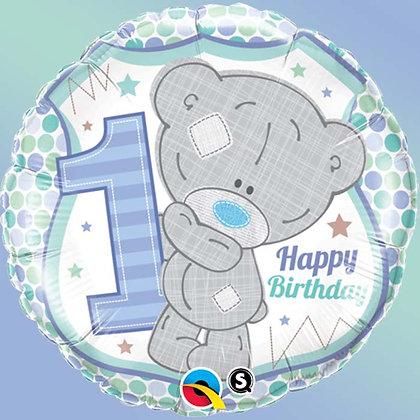 Ballon Aluminium 18″ Me To You Tiny Tatty 1st Birthday Boy – Qualatex