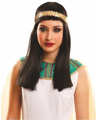 Perruque longue Égyptienne adulte