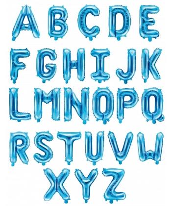 Ballons Lettres Aluminium Bleu