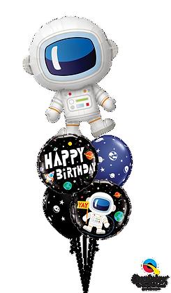 """Ballons MASTER """"Adorable Astronaute Bday"""""""