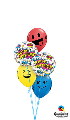 "Ballons CLASSIC ""Smiley Super Hero Birthday"""