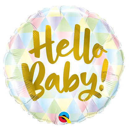 Ballon Aluminium 18″ Hello Baby – Qualatex