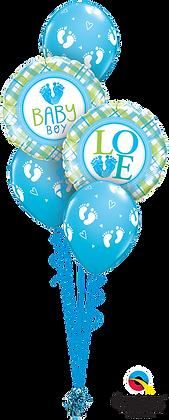 """Ballons CLASSIC """"Baby Love Feet"""" Bleu"""