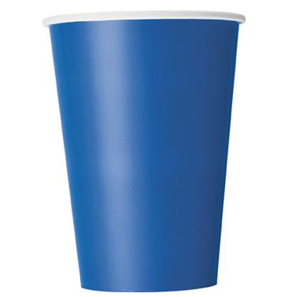 10 Gobelets en carton bleu 355 ml