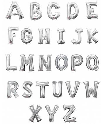 Ballons Lettres Aluminium Argent