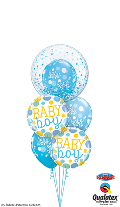 Ballons MASTER Baby Boy Bulle