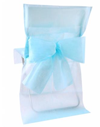 10 Housses de chaise bleu clair 50 x 95 cm