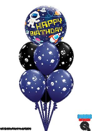 """Ballons LUXURY Bulle """"Astronaute Bday"""""""