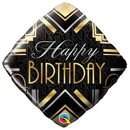 Ballon Aluminium 18″ Birthday Art Deco – Qualatex