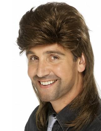 Perruque mulet marron homme