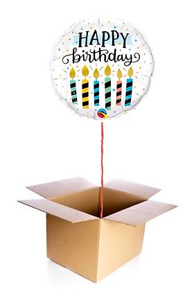 Ballon Happy Birthday Bougies