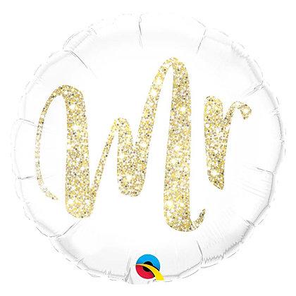 Ballon Aluminium 18″ Mr. Glitter Gold – Qualatex