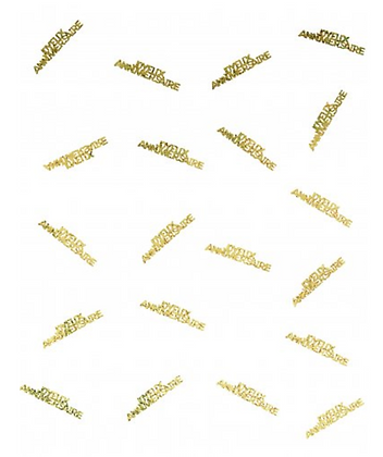 Confettis Joyeux anniversaire or