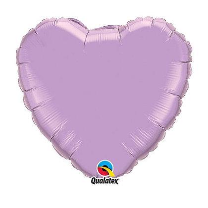 Ballon Coeur 18″ Lavande – Qualatex