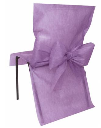 10 Housses de chaise parme 50 x 95 cm