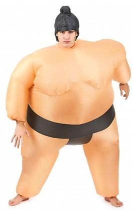 Déguisement humoristique sumo gonflable adulte