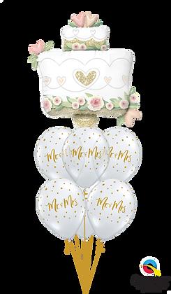 "Ballons LUXURY ""Mr. & Mrs. Glittering Wedding Cake"""