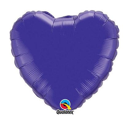 Ballon Coeur 18″ Violet – Qualatex