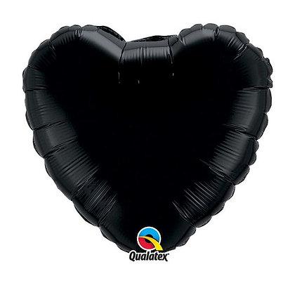Ballon Coeur 18″ Noir – Qualatex