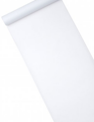 Chemin de table intissé blanc 10 m